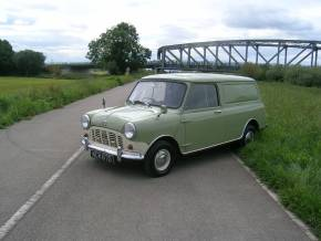Austin Mini 0.8 Van Estate Petrol Green at Yorkshire Classic Car Centre Goole